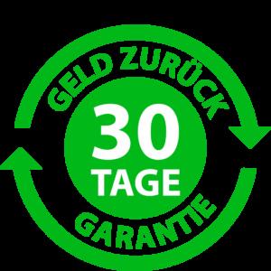 30 Tage Geld-zurück-Garantie Button